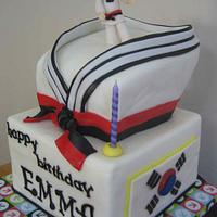 deputy black belt taekwondo cake