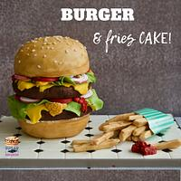 Burger and Fries Cake