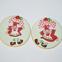 Vintage Strawberry Shortcake cookies