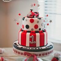 Radio Flyer Cake