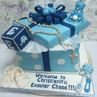A christening cake..