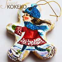 Christmas Ice Skater Cookie