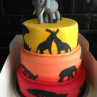 """""""Safari"""" with an elephant topper x"""