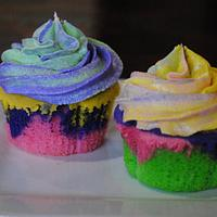 Rainbow cupcakes by Amelia's Cakes