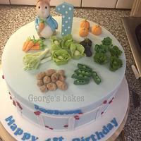 Peter rabbit first birthday