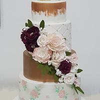 Golden wedding cake 2