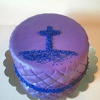 Amethyst Table Theme cake by Mimi's Sweet Shoppe Amanda Burgess