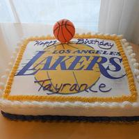 Lakers Fan Cake