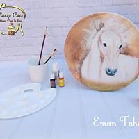 Handpainted horse cake