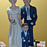 Wedding topper cake
