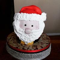 Santa Claus Giant Cupcake