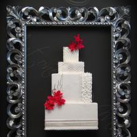 Modern chic cake in the frame