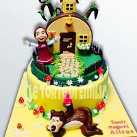 Masha e l'orso cake
