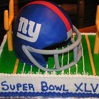 Giants Super Bowl cake