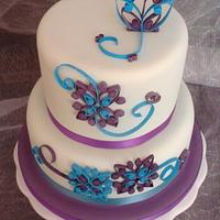 Cake with Quilled Design by VictoriaLouiseCakes