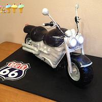 3 ft 3D Motorbike Cake by Lara Clarke