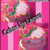 Pink Birthday Cake by lanett