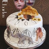 Africa birthday cake
