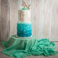 Wedding marine cake