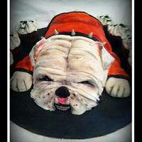 3D Georgia Bulldog Cake