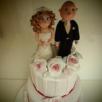 Mel and Daniel's Wedding Cake by Katie Rogers