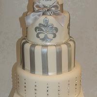 Swarovski Crystal Wedding Cake by Amanda's Little Cake Boutique