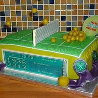 Wimbledon 2013 tennis birthday cake by femmebrulee