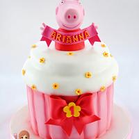 Peppa Pig's Cupcake Cake