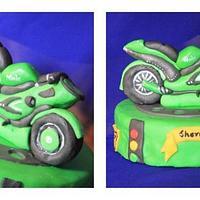 Kawasaki Ninja bike by Sreeja -The Cake Addict