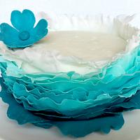 Ombré Frilled Birthday Cake  by miettes