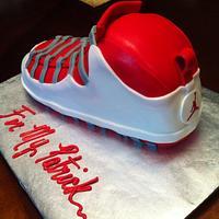 Jordan Shoe Cake by lanett