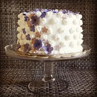 simple white and purple cake