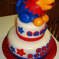 Rock Chalk Jayhawk KU Cake