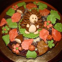 Torta autunnale con riccio by Le Torte di Mary
