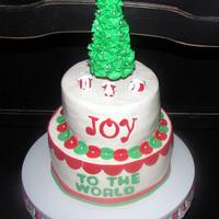 Joy to the World Christmas Cake