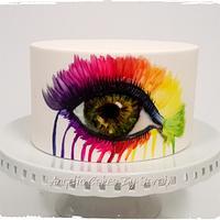 Missing you Rainbow eye cake