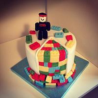 Roblox/Lego cake