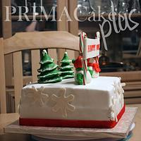 Christmas/Birthday Cake by Prima Cakes and Cookies - Jennifer