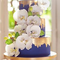 Sugar Orchids and Edible Gold Leaf
