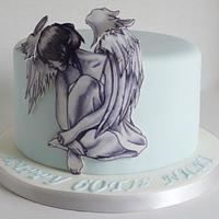 60th Birthday Angel cake