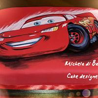 Saetta Mc Quinn cake hand painted