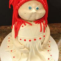 3D Cabbage Patch Kid cake by Tara Kelly