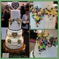 Gold award winning wedding cake - capi de monte china flower inspired