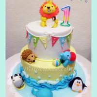 Baby Animal Toys Cake