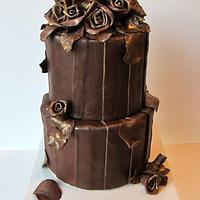 Gilded Roses Cake