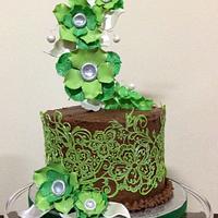 Cake Lace Birthday Cake