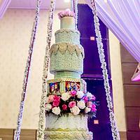 Giant wedding cake..