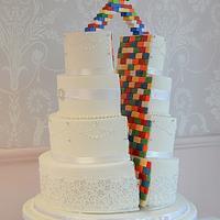 Lego split cake!!