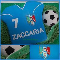 Italia Soccer Jersey Cake