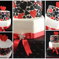 Striking Wedding Cake